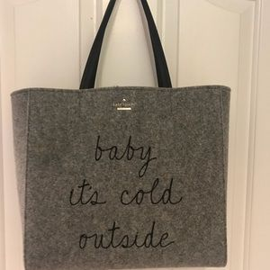 "Kate Spade ""Baby it's Cold Outside"" Tote"